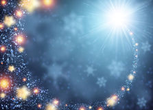 Blue sparkling background. With stars. Vector illustration Stock Image