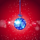 Blue Sparkling Christmas Ball Stock Image
