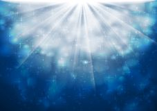 Blue sparkling lights vector shiny background Royalty Free Stock Image