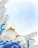 Blue sparkling  New Year's background Stock Images