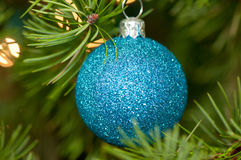 Blue sparkling ornament Royalty Free Stock Image