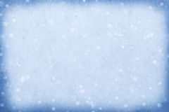 Blue sparkling snow background. Stock Images