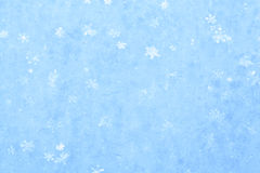 Blue sparkling snow background. Royalty Free Stock Photography
