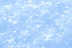 Blue sparkling snow background. Stock Photography