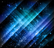 Blue sparkling  vector background Stock Photography