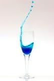 Blue sparkling wine Royalty Free Stock Image