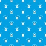 Blue special police flasher pattern seamless blue. Blue special police flasher pattern repeat seamless in blue color for any design. Vector geometric Royalty Free Stock Image