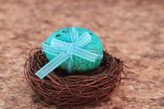 Free Blue Speckled Easter Egg Royalty Free Stock Images - 13191559