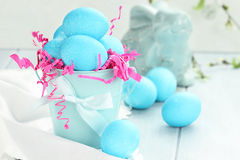 Blue Speckled Easter Eggs Royalty Free Stock Image