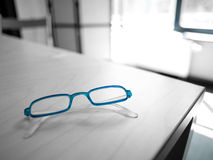 Blue spectacles Stock Image