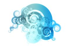 Blue Spectrum Color Blend Abstract Design Backgrou Royalty Free Stock Images