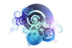 Blue Spectrum Color Blend Abstract Design Backgrou Royalty Free Stock Photography