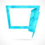 Blue speech bubble. Stock Images