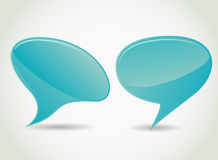 Blue speech bubble Stock Photography