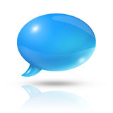Blue speech bubble Royalty Free Stock Photo