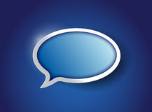 Blue Speech bubble, communication concept Royalty Free Stock Image