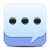 Blue Speech Bubbles Icon Stock Photos
