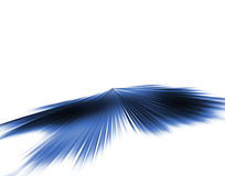 Blue speed. 3d Blue blurred speeding background Stock Images