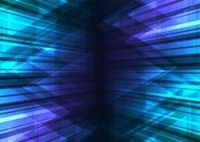 Blue speed bar and triangle abstract background Royalty Free Stock Images
