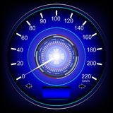 Blue speedometer car Stock Images