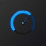 Blue speedometer Royalty Free Stock Images