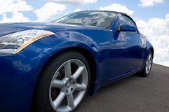 Blue Speedster stock photos