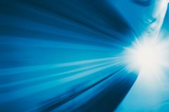 Blue speedy fast motion blur moving Royalty Free Stock Image