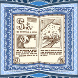 Blue spell book Royalty Free Stock Photos