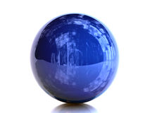 Blue Sphere Royalty Free Stock Photography