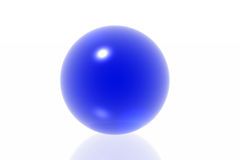 Blue sphere Stock Photos