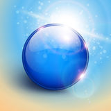 Blue sphere background Royalty Free Stock Photos