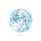 Blue sphere, flowing design. Vector illustration EPS 10 Stock Images