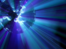 Blue Sphere Lights. Abstract 3d sphere shape light spectrum illustration background Stock Photography