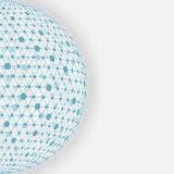 Blue sphere network white background Royalty Free Stock Photos
