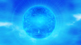 Blue sphere in sky Stock Image