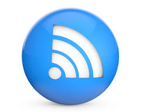 Blue Sphere with WiFi Sign Royalty Free Stock Images