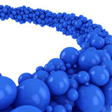 Blue spheres Royalty Free Stock Images
