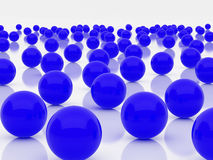 Blue spheres. High resolution image blue spheres. 3d illustration over  white backgrounds Stock Photo