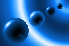 Blue spheres Stock Image