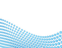 Blue spheres abstract Royalty Free Stock Photo