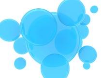 Blue spheres background Stock Photo