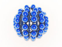 Blue spheres Stock Photography