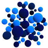Blue spheres. 3d volumetric sphere balls background Royalty Free Stock Images