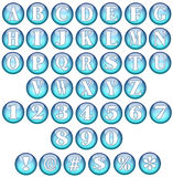 Blue Spherical Fonts  Stock Photography