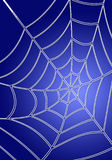 Blue spiderweb. Digital spiderweb on blue background Stock Images