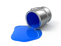 Blue spilled paint Royalty Free Stock Images