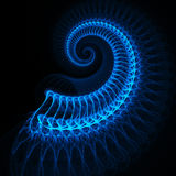 Blue spinal Royalty Free Stock Photography