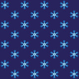 Blue spiny snowflake wrapping Stock Images