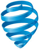 Blue spiral. Abstract blue spiral. Vector image Stock Photos