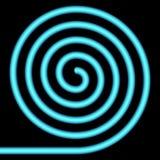 Blue spiral. Blue spiral on a black background Stock Image